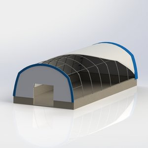 Single Truss Leg Fabric Buildings