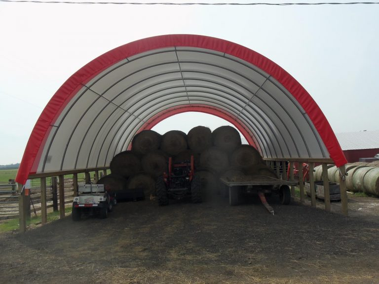 Fabric Buildings for Hay Storage