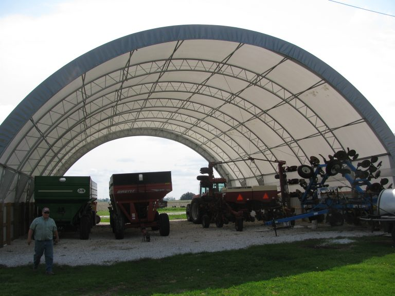 Fabric Buildings for Machine Storage