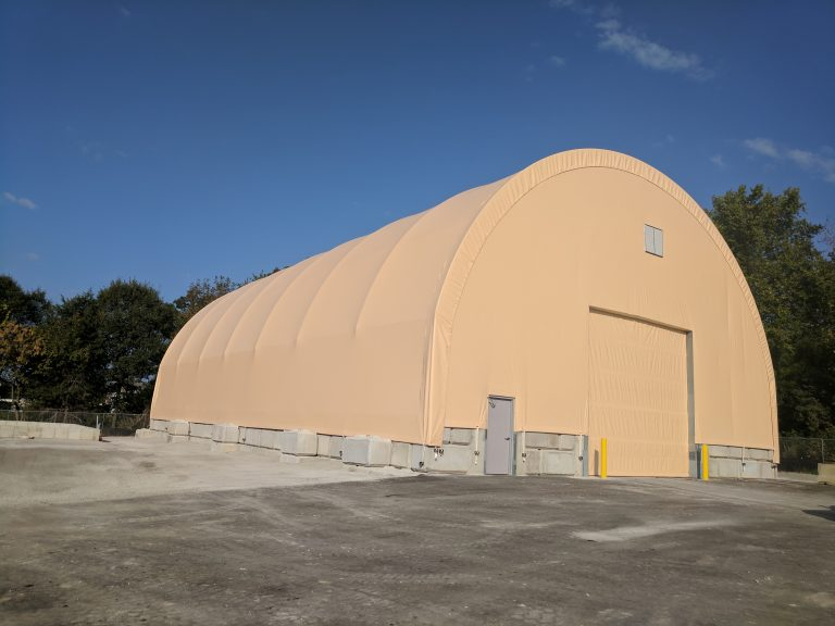 Fabric Buildings for Salt & Sand Storage